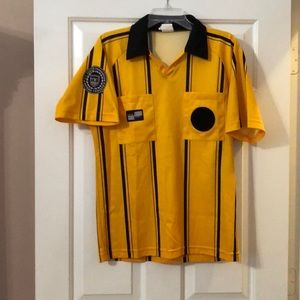 d83b01225 Official Sports International Shirts - Official Sports Yellow Soccer  Referee Jersey Sz M